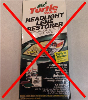 turtle wax lens restorer kit - hand sanding