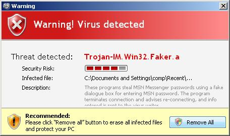 Don't Be Scammed By Fake Virus Message