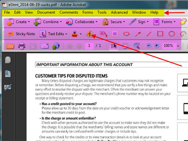 how to restore menu bar in adobe acrobat